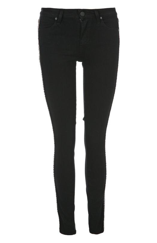 Джинсы PaigeДжинсы<br>Черные джинсы skinny с лампасами вошли в весенне-летнюю коллекцию бренда, созданного Пейдж Адамс-Геллер. Модель Black shadow с классической посадкой на талии выполнена из мягкой вискозы с добавлением плотного хлопка. Нам нравится сочетать с топом и босоножками на шпильке.<br><br>Российский размер RU: 38<br>Пол: Женский<br>Возраст: Взрослый<br>Размер производителя vendor: 24<br>Материал: Вискоза: 54%; Хлопок: 23%; Полиэстер: 22%; Эластан: 1%;<br>Цвет: Черный