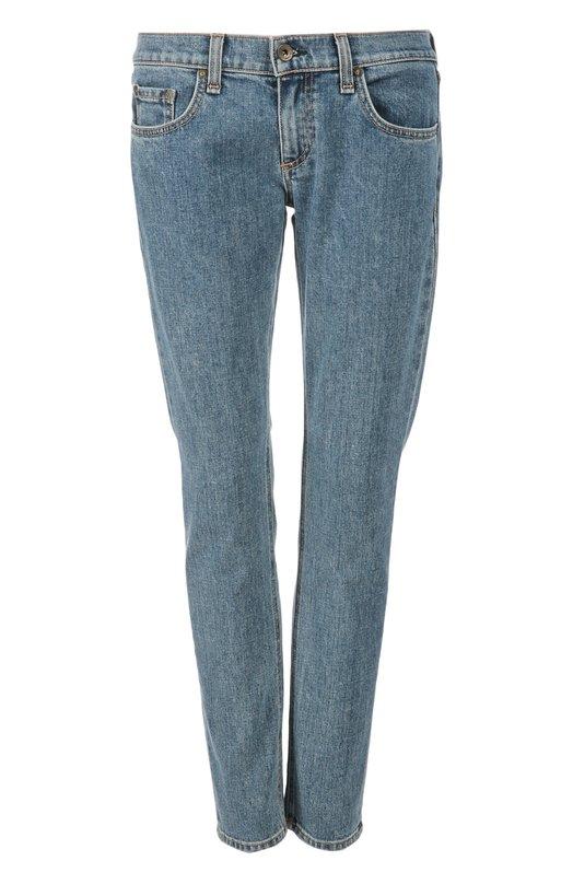 Джинсы Rag&amp;BoneДжинсы<br>В коллекцию сезона весна-лето 2016 года вошли светло-синие джинсы slim-fit. Модель с заниженной линией тали сшита из плотного хлопка. Наши стилисты рекомендуют сочетать с блузой, косухой и сникерами.<br><br>Российский размер RU: 38<br>Пол: Женский<br>Возраст: Взрослый<br>Размер производителя vendor: 24<br>Материал: Хлопок: 98%; Полиуретан: 2%;<br>Цвет: Синий