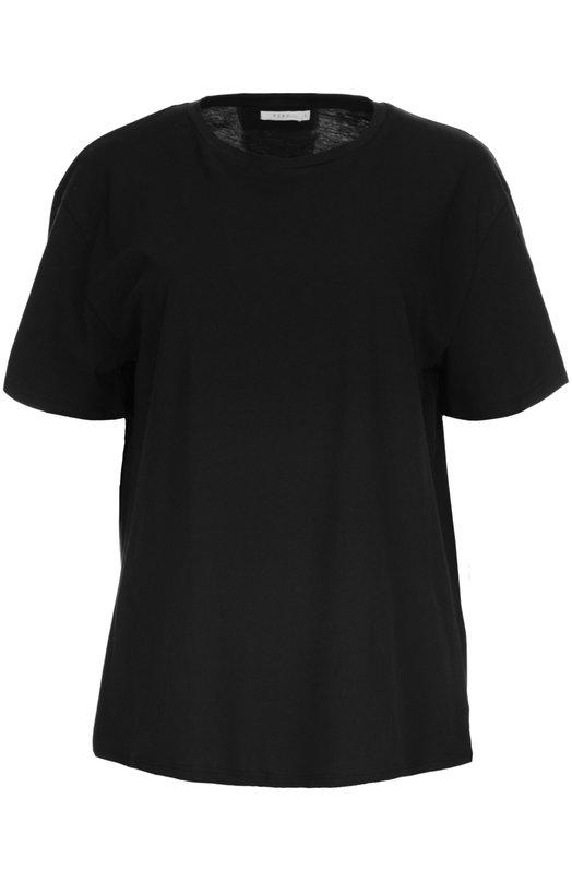 Футболка джерси 6397Футболки<br>Для производства футболки с круглым вырезом и коротким рукавом Стелла Иши выбрала мягкий хлопок джерси черного цвета. Модель вошла в коллекцию сезона осень-зима 2016 года. Нам нравится сочетать с коричневой паркой, укороченными синими джинсами и темными полусапогами.<br><br>Российский размер RU: 44<br>Пол: Женский<br>Возраст: Взрослый<br>Размер производителя vendor: M<br>Материал: Хлопок: 100%;<br>Цвет: Черный