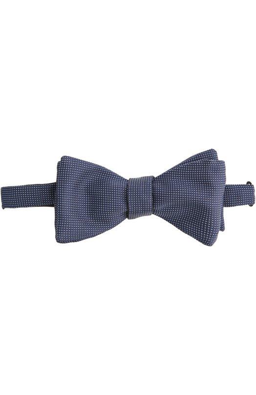 Галстук-бабочка EtonГалстуки<br>Темно-синий галстук-бабочка выполнен из структурированного шелка с набивным рисунком в мелкий горох. Аксессуар Pre-Tied вошел в коллекцию сезона весна-лето 2016 года. Попробуйте сочетать с белой рубашкой и темным костюмом.<br><br>Пол: Мужской<br>Возраст: Взрослый<br>Размер производителя vendor: NS<br>Материал: Шелк: 100%;<br>Цвет: Темно-синий