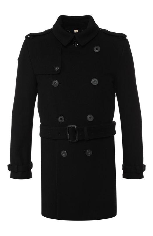 Пальто с поясом Burberry 3877791