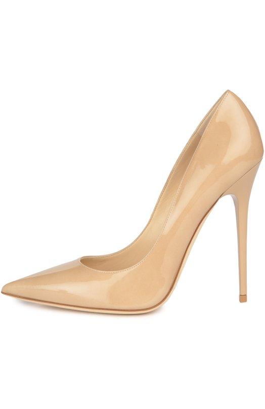 Купить Лаковые туфли Anouk на шпильке Jimmy Choo, AN0UK/PAT, Италия, Бежевый, Кожа натуральная: 100%; Стелька-кожа: 100%; Подошва-кожа: 100%;