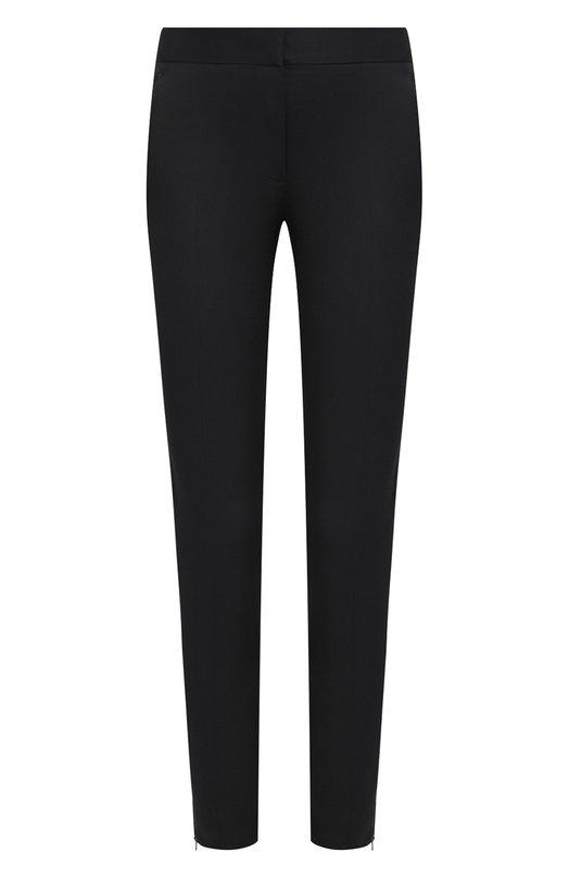 Купить Однотонные брюки прямого кроя из шерсти Stella McCartney, 358310/SY704, Венгрия, Черный, Шерсть: 100%;