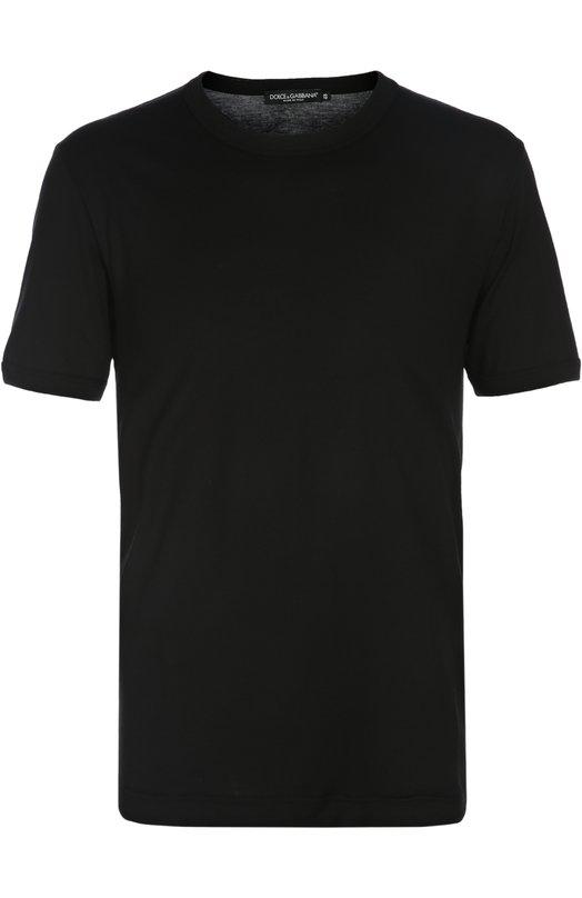 Купить Футболка джерси Dolce & Gabbana, 0101/G8FV4T/FU7EQ, Италия, Черный, Хлопок: 100%;