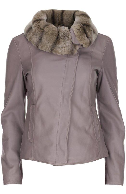 Кожаная куртка Armani Collezioni SMB07P/SMP07
