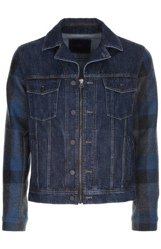Джинсовая куртка LanvinКуртки<br><br><br>Российский размер RU: 52<br>Пол: Мужской<br>Возраст: Взрослый<br>Размер производителя vendor: 52<br>Материал: Шерсть: 81%; Полиамид: 19%; Хлопок: 100%;<br>Цвет: Синий