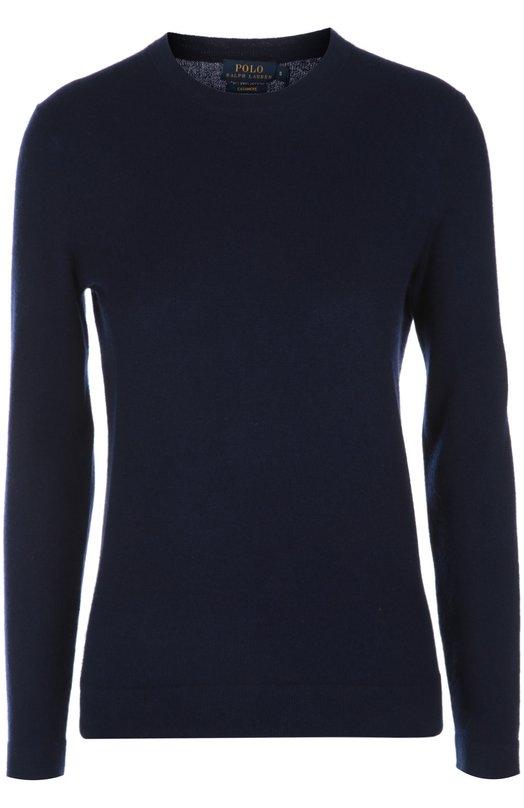 Вязаный пуловер Polo Ralph LaurenСвитеры<br>Для производства темно-синего пуловера Ральф Лорен выбрал мягкую тонкую кашемировую пряжу. Модель с длинными рукавами и круглым вырезом вошла в коллекцию сезона весна-лето 2016 года. Нам нравится сочетать с белыми брюками и слипонами.<br><br>Российский размер RU: 44<br>Пол: Женский<br>Возраст: Взрослый<br>Размер производителя vendor: M<br>Материал: Кашемир: 100%;<br>Цвет: Синий