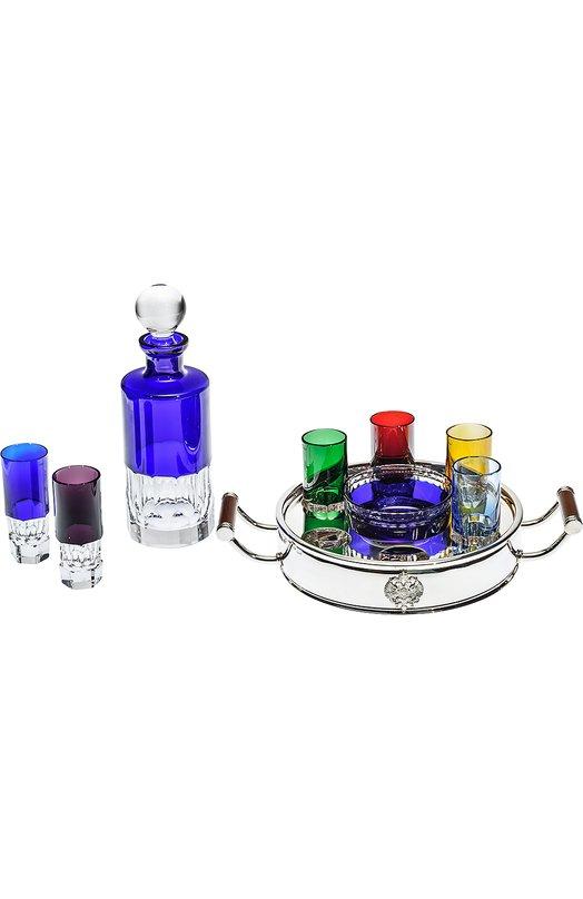Набор из штофа, подноса, икорницы и 6-ти рюмок для водки Ice Shots Tsar 650026