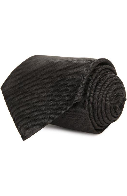 Галстук Armani CollezioniГалстуки<br>Джорджио Армани включил в весенне-летнюю коллекцию 2016 года галстук в диагональную полоску, сшитый из фактурного мягкого шелка с едва заметным тканым узором. Мастера бренда изготовили аксессуар вручную.<br><br>Пол: Мужской<br>Возраст: Взрослый<br>Размер производителя vendor: NS<br>Материал: Шелк: 100%;<br>Цвет: Черный