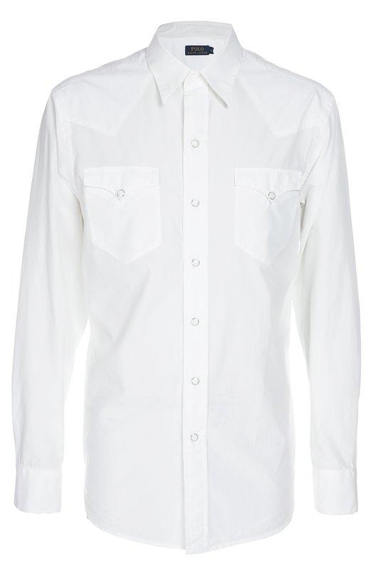 Рубашка Polo Ralph LaurenРубашки<br>Обновленная версия белой рубашки вошла в коллекцию сезона весна-лето 2016 года. Изделие с двумя накладными карманами застегивается на кнопки. Модель изготовлена мастерами бренда, основанного Ральфом Лореном, из плотного хлопка с добавлением мягкого шелка.<br><br>Российский размер RU: 48<br>Пол: Мужской<br>Возраст: Взрослый<br>Размер производителя vendor: M<br>Материал: Хлопок: 90%; Шелк: 10%;<br>Цвет: Белый