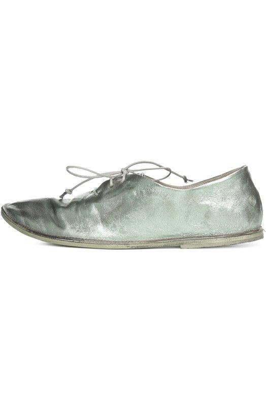 Ботинки MarsellБотинки<br>Креативный директор бренда включил в весенне-летнюю коллекцию 2016 года ботинки с круглым мысом, на плоской подошве. При создании модели мастера марки использовали специально состаренную металлизированную кожу светло-зеленого цвета.<br><br>Российский размер RU: 36<br>Пол: Женский<br>Возраст: Взрослый<br>Размер производителя vendor: 36<br>Материал: Кожа натуральная: 100%; Стелька-кожа: 100%; Подошва-кожа: 100%;<br>Цвет: Зеленый