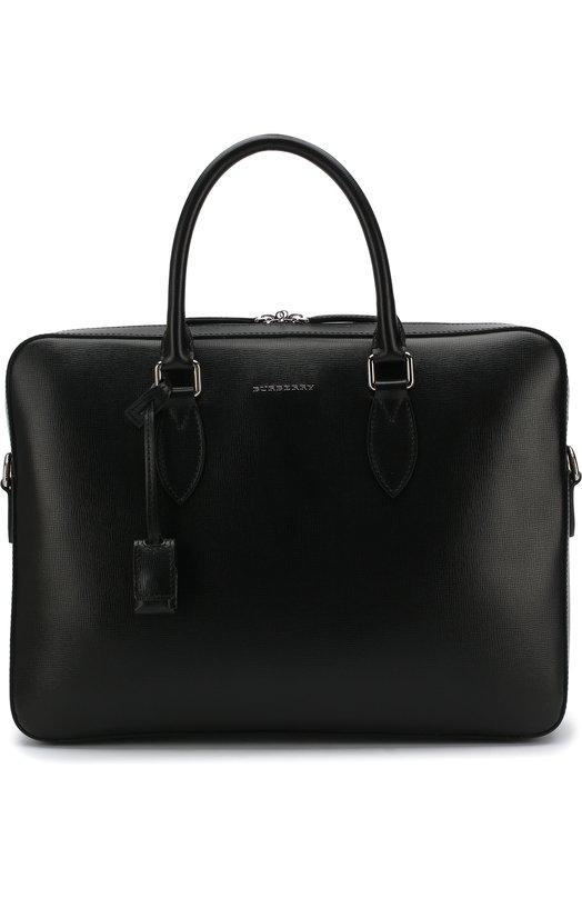 Кожаный портфель на молнии с плечевым ремнем Burberry