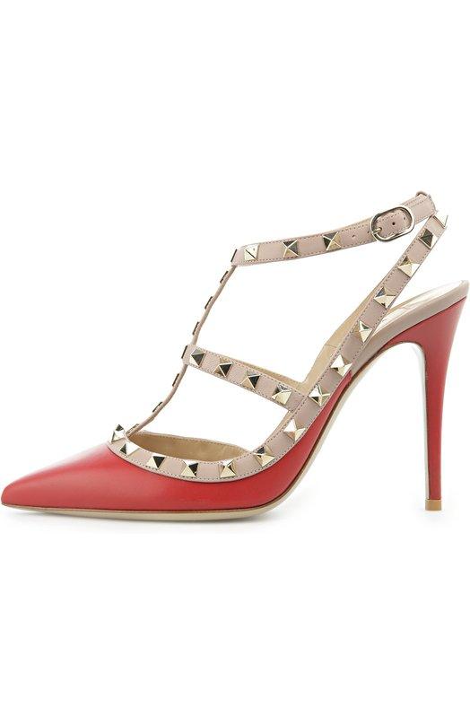 Кожаные туфли Valentino Garavani Rockstud на шпильке Valentino Valentino