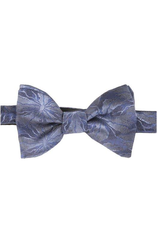 Галстук-бабочка LanvinГалстуки<br>Сиреневый галстук-бабочка модели pre-tied выполнен из фактурного мягкого шелка с цветочным узором. Элегантный аксессуар ручной работы вошел в весенне-летнюю коллекцию бренда, основанного Жанной Ланван.<br><br>Пол: Мужской<br>Возраст: Взрослый<br>Размер производителя vendor: NS<br>Материал: Шелк: 100%;<br>Цвет: Сиреневый