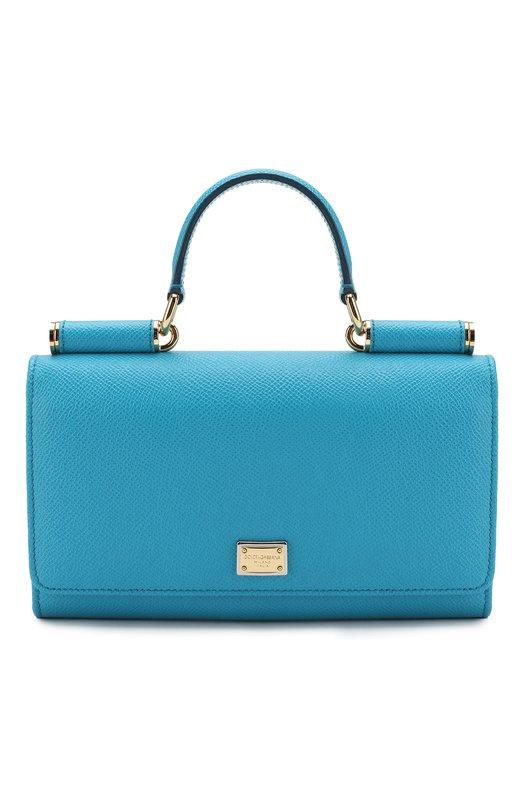 Купить Сумка Sicily Von на цепочке Dolce & Gabbana, 0116/BI0671/A1001, Италия, Бирюзовый, Кожа натуральная: 100%;