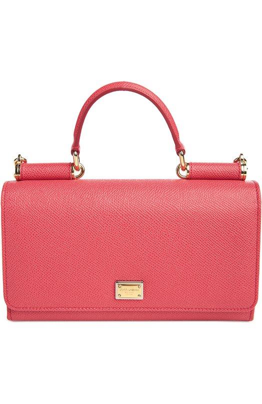 Купить Сумка Sicily Von на цепочке Dolce & Gabbana, 0116/BI0671/A1001, Италия, Коралловый, Кожа натуральная: 100%;