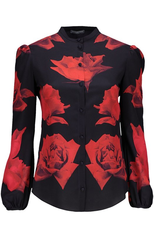 Блуза Alexander McQueenБлузы<br><br><br>Российский размер RU: 44<br>Пол: Женский<br>Возраст: Взрослый<br>Размер производителя vendor: 42<br>Материал: Шелк: 100%;<br>Цвет: Красный