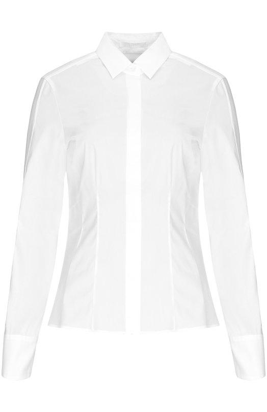 Приталенная хлопковая блуза BOSS 50290338