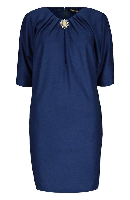 Платье Roberto CavalliПлатья<br><br><br>Российский размер RU: 46<br>Пол: Женский<br>Возраст: Взрослый<br>Размер производителя vendor: 44<br>Материал: Шерсть: 100%; Подкладка-вискоза: 100%;<br>Цвет: Синий
