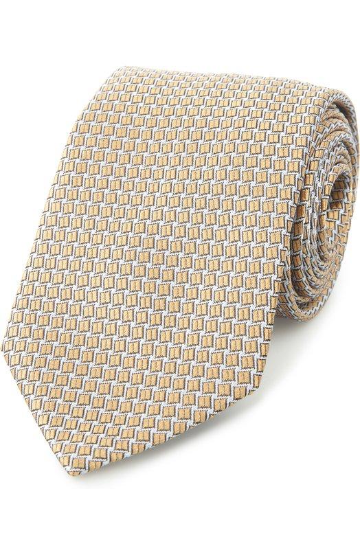 Галстук LanvinГалстуки<br>В коллекцию сезона весна-лето 2016 года вошел галстук из мягкого текстурированного шелка. Аксессуар, сшитый вручную мастерами бренда, основанного Жанной Ланван, украшает геометрический фуляровый узор. Попробуйте носить с белой рубашкой и светлым космюмом.<br><br>Пол: Мужской<br>Возраст: Взрослый<br>Размер производителя vendor: NS<br>Материал: Шелк: 100%;<br>Цвет: Бежевый