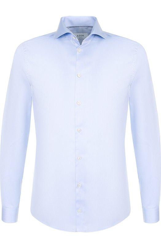 Приталенная сорочка с воротником акула EtonРубашки<br>Рубашка с французским воротником и длинными рукавами выполнена из плотного хлопка светло-голубого цвета. Наши стилисты советуют носить с черными брюками, серебристым галстуком, серым пиджаком и коричневыми лоферами.<br><br>Российский размер RU: 52<br>Пол: Мужской<br>Возраст: Взрослый<br>Размер производителя vendor: 42<br>Материал: Хлопок: 100%;<br>Цвет: Голубой
