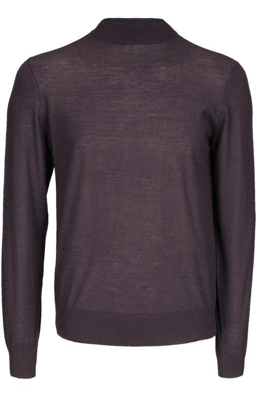 Вязаный пуловер BrioniСвитеры<br><br><br>Российский размер RU: 50<br>Пол: Мужской<br>Возраст: Взрослый<br>Размер производителя vendor: 48<br>Материал: Шерсть: 40%; Кашемир: 30%; Шелк: 30%;<br>Цвет: Темно-фиолетовый