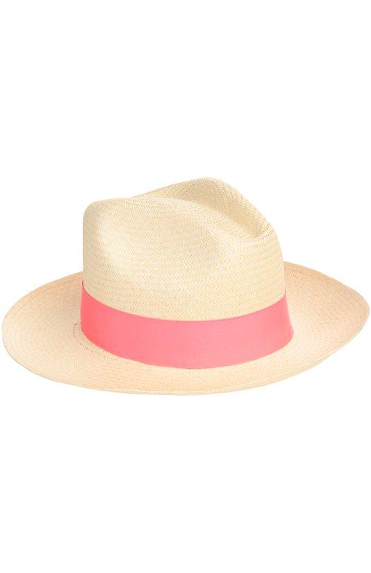 Купить Шляпа пляжная Artesano, CL234, Эквадор, Розовый, Соломка: 100%; Отделка-текстиль: 100%;