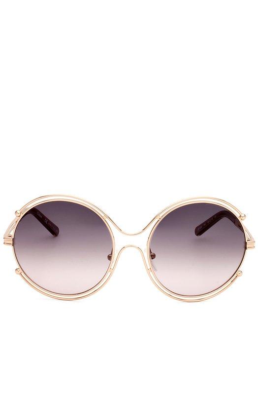Солнцезащитные очки Chlo?Очки<br>Круглая металлическая оправа цвета золота, дополненная заушниками из прозрачного пластика, украшена выгравированным логотипом марки. Дизайнер бренда включила солнцезащитные очки Isidora в коллекцию сезона весна-лето 2016 года.<br><br>Пол: Женский<br>Возраст: Взрослый<br>Размер производителя vendor: NS<br>Цвет: Золотой