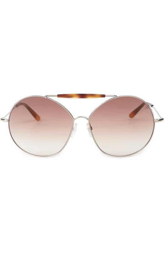 Солнцезащитные очки ValentinoОчки<br>Солнцезащитные очки-авиаторы вошли в весенне-летнюю коллекцию бренда, основанного Валентино Гаравани. Круглая металлическая оправа цвета золота дополнена заушниками из пластика, имитирующего панцирь черепахи.<br><br>Пол: Женский<br>Возраст: Взрослый<br>Размер производителя vendor: NS<br>Цвет: Коричневый