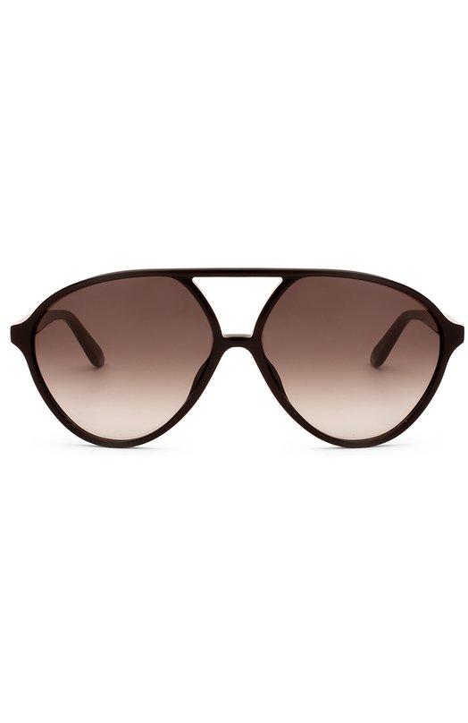 Солнцезащитные очки ValentinoОчки<br>Солнцезащитные очки-авиаторы вошли в весенне-летнюю коллекцию бренда, основанного Валентино Гаравани. Оправа из легкого прочного пластика черного цвета украшена позолоченным логотипом марки, нанесенным методом лазерной гравировки.<br><br>Пол: Женский<br>Возраст: Взрослый<br>Размер производителя vendor: NS<br>Цвет: Черный