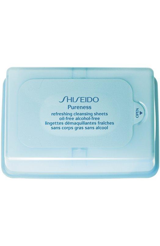 Освежающие очищающие салфетки Pureness Shiseido 16703SH