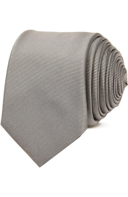 Галстук GivenchyГалстуки<br>Однотонный серый галстук выполнен вручную из мягкого эластичного шелка с легким глянцевым блеском. Аксессуар с тканым узором в тонкую полоску вошел в весенне-летнюю коллекцию бренда, основанного Жанной Ланван.<br><br>Пол: Мужской<br>Возраст: Взрослый<br>Размер производителя vendor: NS<br>Материал: Шелк: 100%;<br>Цвет: Серый