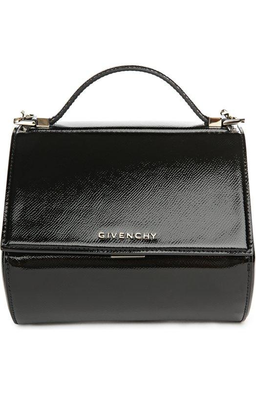 Сумка из лаковой кожи Pandora Box mini на цепочке Givenchy BB0/5264/480
