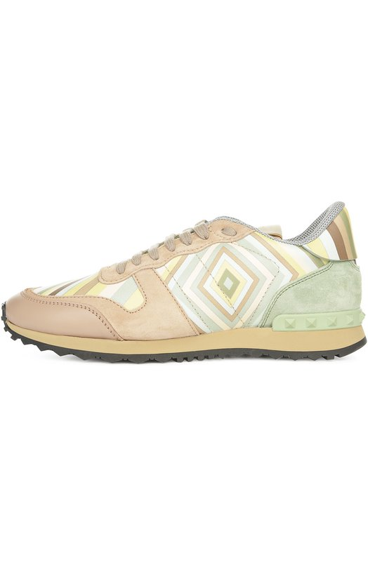 Комбинированные кроссовки Navajo с принтом Valentino KW2S0291/VSW