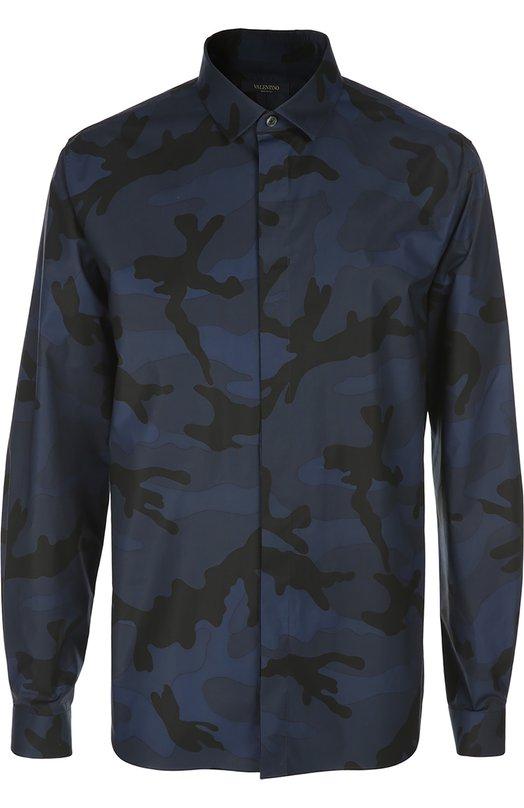Принтованная рубашка с воротником кент Valentino KV0AB710/2L7