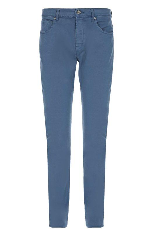 Джинсы 7 For All MankindДжинсы<br>Прямые джинсы изготовлены мастерами бренда из мягкого эластичного хлопка стрейч. Модель синего оттенка вошла в коллекцию сезона весна-лето 2016 года. Попробуйте носить с поло, харрингтоном и кедами.<br><br>Материал: Хлопок: 98%; Эластан: 2%;<br>Российский размер RU: 44<br>Размер производителя vendor: 28<br>Цвет: Синий<br>Пол: Мужской<br>Возраст: Взрослый