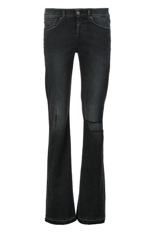 Джинсы 7 For All MankindДжинсы<br>В коллекцию сезона весна-лето 2016 года вошли джинсы bootcut, с низкой посадкой на талии. Модель с потертостями и расшитыми снизу брючинами сшита из черного хлопка стрейч. Пояс со шлевками для широкого ремня и задний карман украшены небольшими текстильными нашивками с логотипом бренда.<br><br>Пол: Женский<br>Возраст: Взрослый<br>Размер производителя vendor: None<br>Материал: Хлопок: 92%; Эластан: 8%;<br>Цвет: Черный