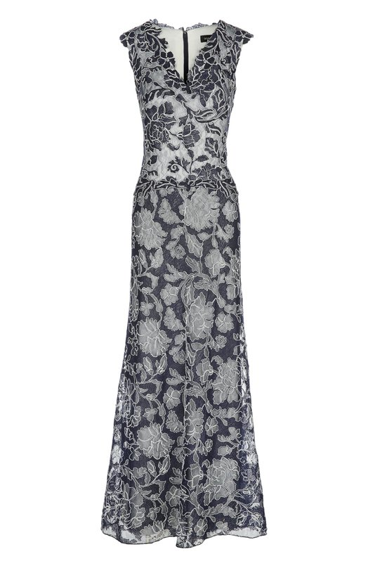Вечернее платье Tadashi ShojiПлатья<br>В весенне-летнюю коллекцию бренда, основанного Тадаши Седзи, вошло вечернее платье с V-образным вырезом. Мастера марки выполнили изделие из тонкого кружева с узором в виде цветов темно-синего цвета. Наши стилисты рекомендуют сочетать с черными босоножками.<br><br>Российский размер RU: 46<br>Пол: Женский<br>Возраст: Взрослый<br>Размер производителя vendor: 8<br>Материал: Полиэстер: 60%; Полиамид: 40%; Подкладка-полиэстер: 100%;<br>Цвет: Темно-синий