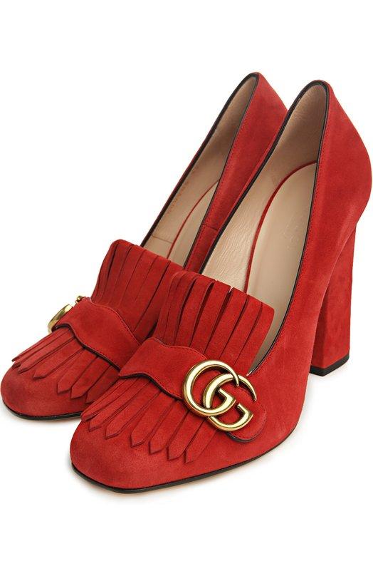 Купить Замшевые туфли Marmont с пряжкой Gucci Италия 5033945 408206/C2000