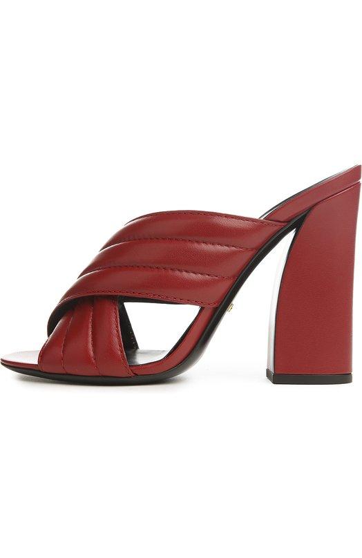 Сабо Webby на устойчивом каблуке Gucci 408306/C9D00