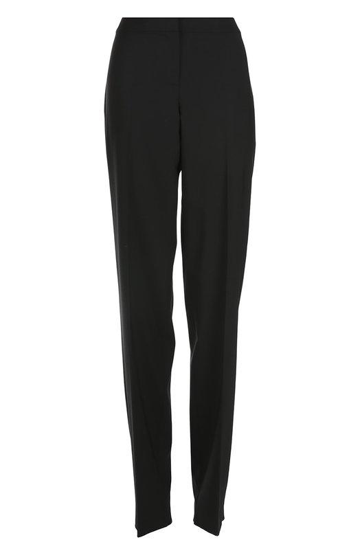 Брюки St. JohnБрюки<br>Дизайнеры марки включили в весенне-летнюю коллекцию 2016 года брюки Crepe Marocain. Мастера бренда выполнили модель прямого кроя из мягкой ткани черного цвета. Изделие со стрелками застегивается на потайную молнию и крючок.<br><br>Российский размер RU: 52<br>Пол: Женский<br>Возраст: Взрослый<br>Размер производителя vendor: 14<br>Материал: Шерсть: 96%; Спандекс: 4%;<br>Цвет: Черный