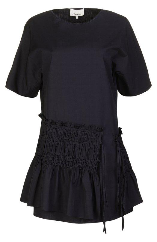 Приталенное мини-платье с широкой оборкой 3.1 Phillip Lim PS16-9468P0P