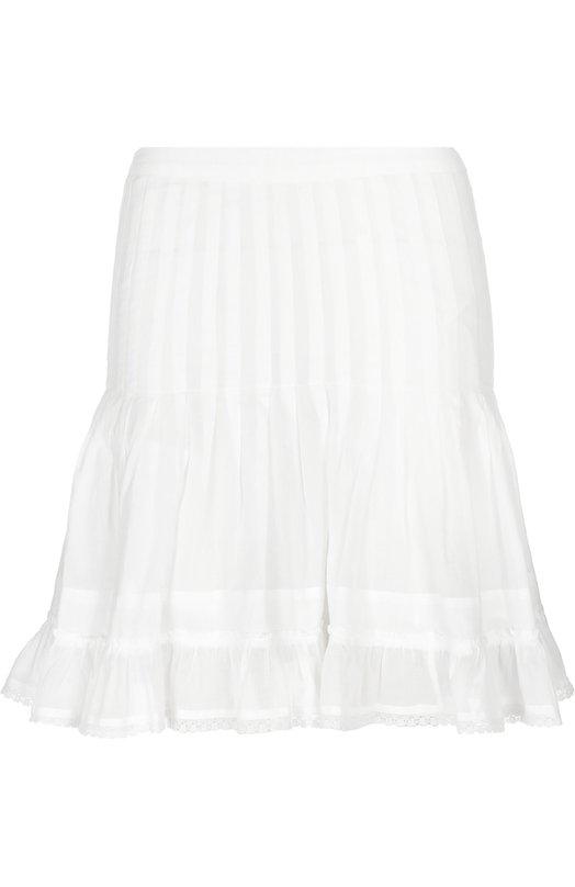 Хлопковая мини-юбка с ажурной отделкой Isabel Marant Etoile JU0490-16P054E