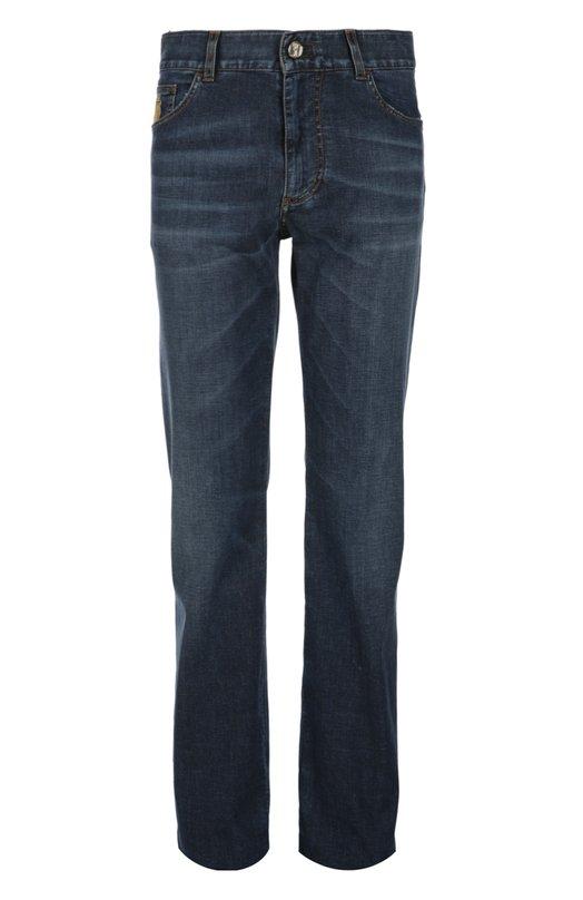Джинсы BillionaireДжинсы<br>В коллекцию сезона весна-лето 2016 года вошли джинсы темно-синего цвета. Модель regular fit с классической посадкой на талии сшита вручную из стрейчевого денима с небольшими потертостями. Задние карманы декорированы коричневой вышивкой в виде логотипа марки.<br><br>Российский размер RU: 46<br>Пол: Мужской<br>Возраст: Взрослый<br>Размер производителя vendor: 44<br>Материал: Хлопок: 98%; Эластан: 2%;<br>Цвет: Темно-синий