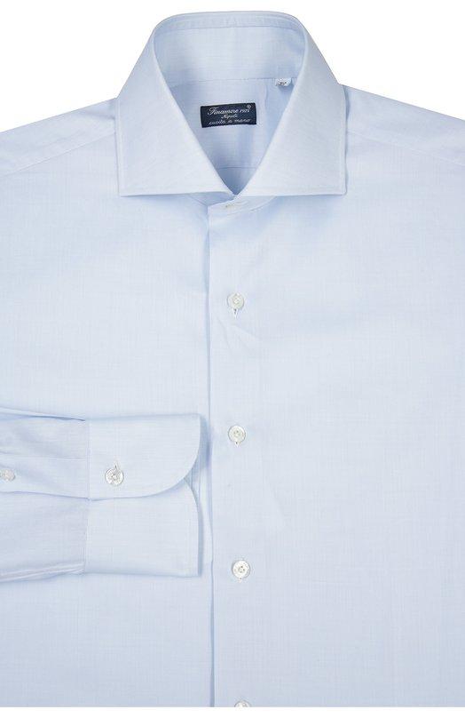 Сорочка Finamore 1925Рубашки<br>Для создания модели использован мягкий тонкий хлопок голубого цвета, не мнущийся и не теряющий форму в течение дня. Рубашка с длинным рукавом вошла в классическую коллекцию бренда, основанного Каролиной Финаморе. Изделие и манжеты застегиваются на белые пуговицы.<br><br>Российский размер RU: 41<br>Пол: Мужской<br>Возраст: Взрослый<br>Размер производителя vendor: 41<br>Материал: Хлопок: 100%;<br>Цвет: Голубой