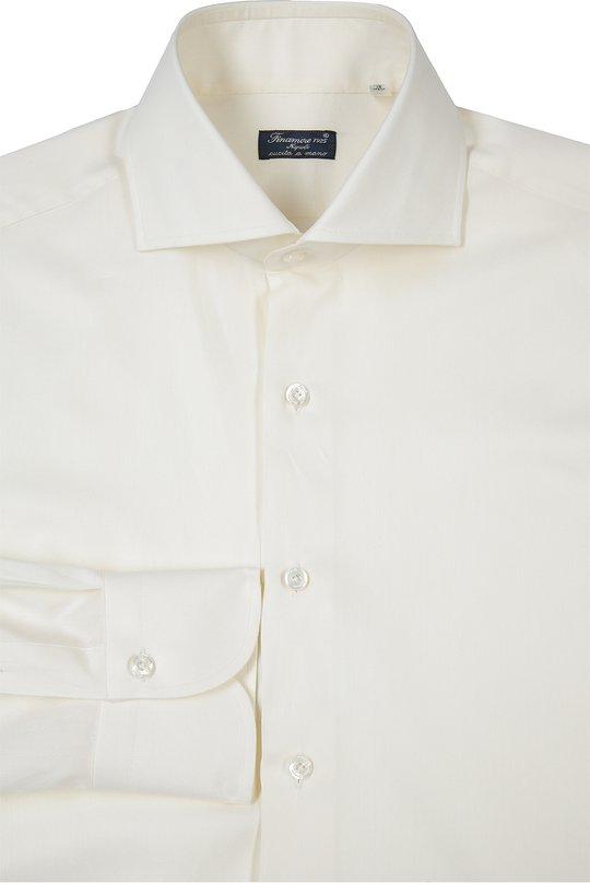 Сорочка Finamore 1925Рубашки<br>Для производства рубашки кремового цвета мастера марки, основанной Каролиной Финаморе, использовали мягкий хлопок. Модель с длинным рукавом вошла в весенне-летнюю коллекцию 2016 года. Попробуйте носить с костюмом серого цвета и черными оксфордами.<br><br>Российский размер RU: 48<br>Пол: Мужской<br>Возраст: Взрослый<br>Размер производителя vendor: 39<br>Материал: Хлопок: 100%;<br>Цвет: Кремовый