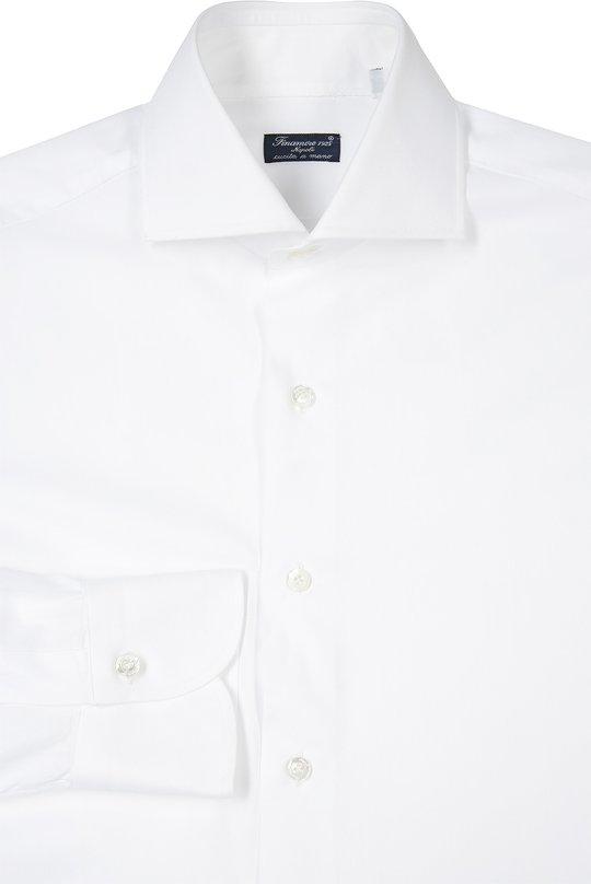 Сорочка Finamore 1925Рубашки<br>Для производства белой рубашки использован мягкий хлопок. Модель с длинным рукавом вошла в классическую коллекцию бренда, основанного Каролиной Финаморе. Рекомендуем сочетать с костюмом бордового цвета, серым галстуком и черными оксфордами.<br><br>Российский размер RU: 41<br>Пол: Мужской<br>Возраст: Взрослый<br>Размер производителя vendor: 41<br>Материал: Хлопок: 100%;<br>Цвет: Белый