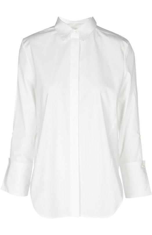 Блуза 3.1 Phillip LimБлузы<br>Белая рубашка прямого кроя вошла в коллекцию сезона весна-лето 2016 года. Филлип Лим дополнил рукава 3/4 широкими манжетами. Изделие выполнено из плотного хлопка. Наши стилисты рекомендуют носить с темно-синим вязаным топом, бежевыми брюками, голубой сумкой и черными босоножками.<br><br>Российский размер RU: 38<br>Пол: Женский<br>Возраст: Взрослый<br>Размер производителя vendor: 0<br>Материал: Хлопок: 100%;<br>Цвет: Белый