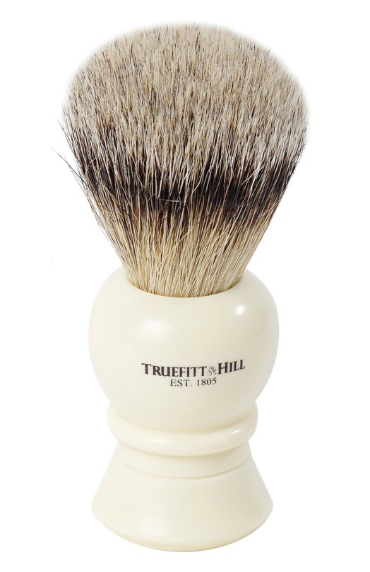 Кисть для бритья Ворс серебристого барсука/Слоновая кость с серебром Regency TruefittHill 00177