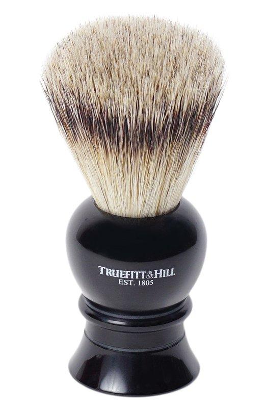 Кисть для бритья Ворс серебристого барсука/Эбонит с серебром Regency TruefittHill 00179